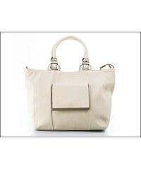 Stylová béžová kabelka s kapsou - zn. Mahel