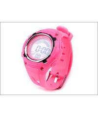 Silikonové růžové hodinky