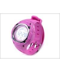 Silikonové fialkové hodinky