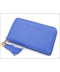 Zářivá modrá peněženka s jemným vzorkem