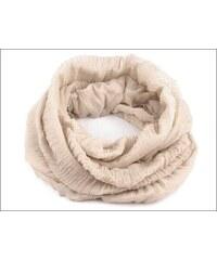 Kruhový krémový šátek s mačkaným vzhledem