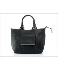 Stylová černá kabelka s kapsou - zn. Mahel