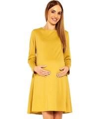 76795fb0ad PeeKaBoo Dámske módne tehotenské šaty Nathy žlté