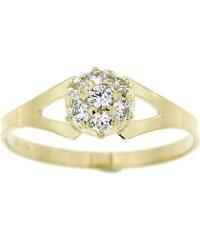 bd372c71b Zlatnictví U Kostela Zlatý prsten posázený zirkony 1079