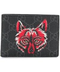 f29f1391e4 Gucci GG Supreme wolf motif wallet - Black