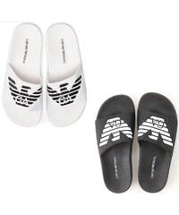 6115ecc8f3 Pantofle Emporio Armani 2 pack - černá   bílá - unisex