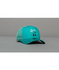 54bd6af10 New Era 9Forty MLB Essential A Frame New York Yankees Trucker Cap Tropical  Green
