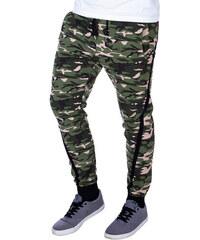 ee92b424e Ombre Clothing Pánské slim maskáčové tepláky Ensign zelené