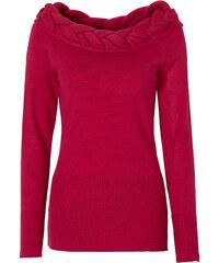 BODYFLIRT boutique Pullover langarm in pink für Damen von bonprix