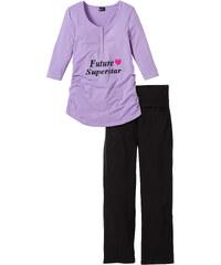 bpc bonprix collection Schwangerschafts-Pyjama (2-tlg. Set) 3/4 Arm in lila für Damen von bonprix
