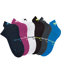 KangaROOS Sneakersocken (6er-Pack) in grau für Damen von bonprix