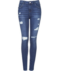 Topshop MOTO Authentic Ripped Skinny Jeans