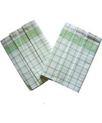 Svitap Utěrky Negativ bílá/zelená - 3 ks