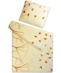 Svitap Povlečení mikroflanel Ginkgo vanilka 140x200 90x70 cm