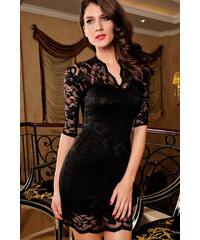 levné černé krajkové šaty