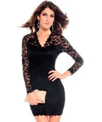 Černé krajkové černé šaty Annabel