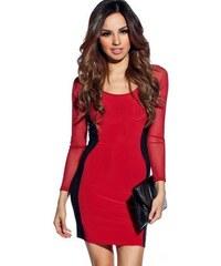 Červené přiléhavé krátké šaty Mona