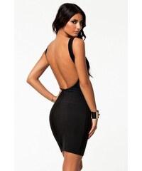Moderní černé šaty s holými zády Michel