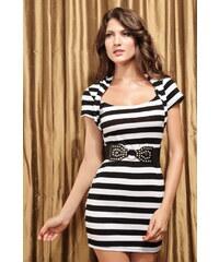 Pruhované šaty s páskem fc0f334cb3