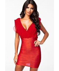 Sexy svůdné červené mini šaty
