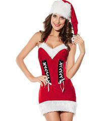 Vánoční dámský kostým Samet