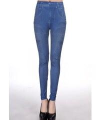 Levné legíny modré džíny