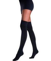 Lascana Strumpfhose mit Overknees im Set in schwarz für Damen von bonprix