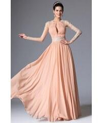 MiaBella Společenské šaty s krajkovými rukávy Barva  jako na obrázku 85af420c24