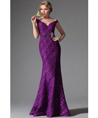 MiaBella Plesové šaty s V výstřihem zdobené kamínky Barva  jako na obrázku 9b4e68f60b