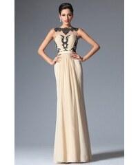 MiaBella Společenské šaty bez rukávů zdobené krajkou Barva  jako na obrázku 33a0309985