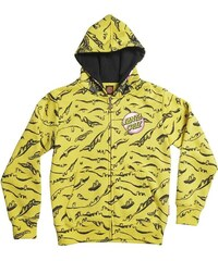mikina SANTA CRUZ - Youth Rob Face Hood Yellow (YELLOW)