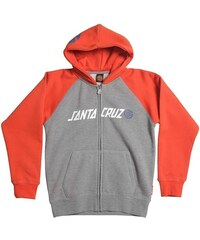 mikina SANTA CRUZ - Youth Stripknot Z/Hood Tomato/Dark Heather (TOMATO DARKHEATHER)