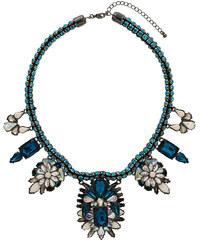 Topshop Premium Blue Rhinestone Collar