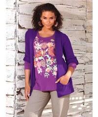 Pletený svetr, Sheego dámský svetr také pro plnoštíhlé 40/42 lila