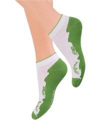 Dámské ponožky Steven 042, zelená - delfín