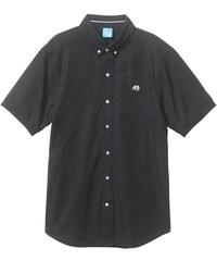 košile ENJOI - Poplin Off S/S Top Black (BLK)