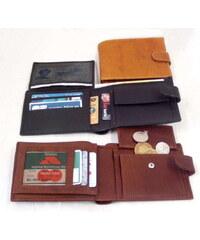 Arwel Pánská kožená peněženka se zápinkou-černá