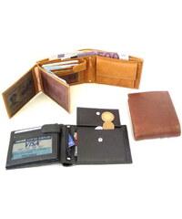 Arwel Pánská kožená peněženka se zápinkou tmavě hnědá
