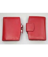 Arwel Červená kožená peněženka rámová