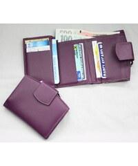 Arwel Fialová kožená peněženka rámová