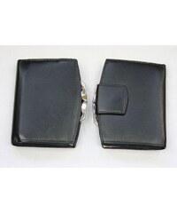Arwel Černá kožená peněženka rámová