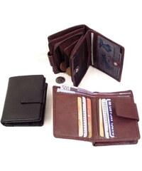 Arwel hnědá dámská kožená peněženka se zápinkou