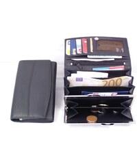 Arwel černá dámská kožená rámová peněženka
