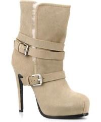 SALE - 50% - Pour La Victoire - Lizzie - Stiefeletten & Boots für Damen / beige
