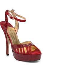 Terry de Havilland - MARGUERITE SNAKE - Sandalen für Damen / rot