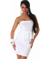 AX London, Anglie Bílé letní peplum šaty