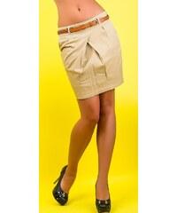 Vs. miss Jeans Hnědá minisukně s páskem