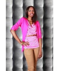 Moda Italy Růžová vesta se všitým topem