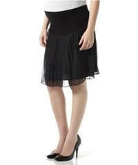 Mamalicious Černá těhotenská plizovaná sukně