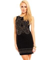 Ethina Černé šaty s ornamenty